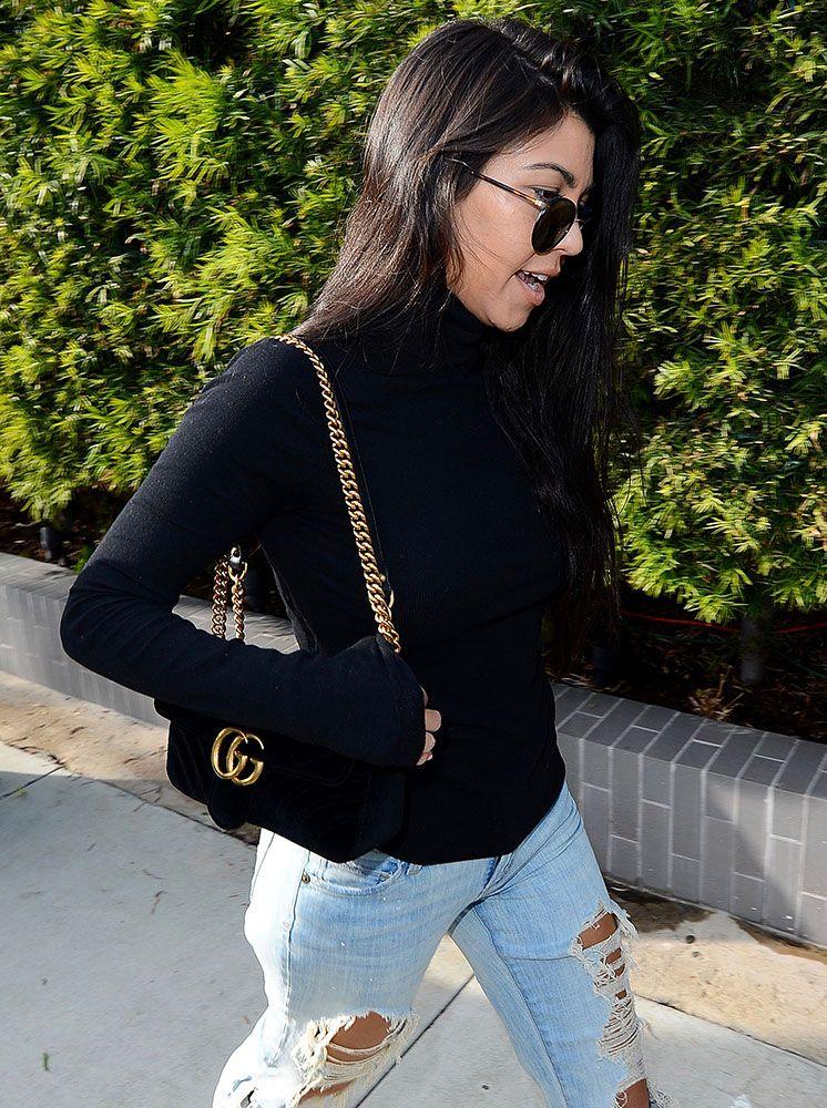e78af437ddb8 kourtney-kardashian-gucci-marmont-shoulder-bag | Street Style în ...