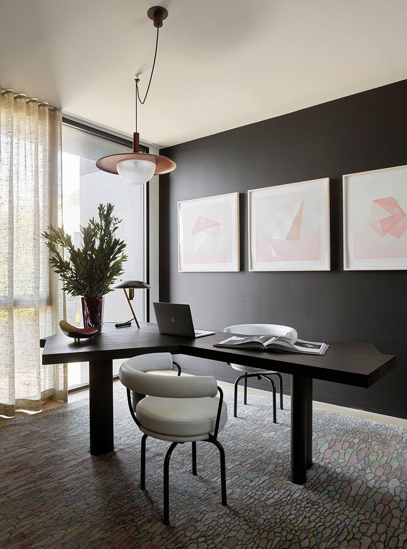 This House In San Francisco Presents A Modern Face To The Street Modern Home Office Elegant Home Decor Home Decor