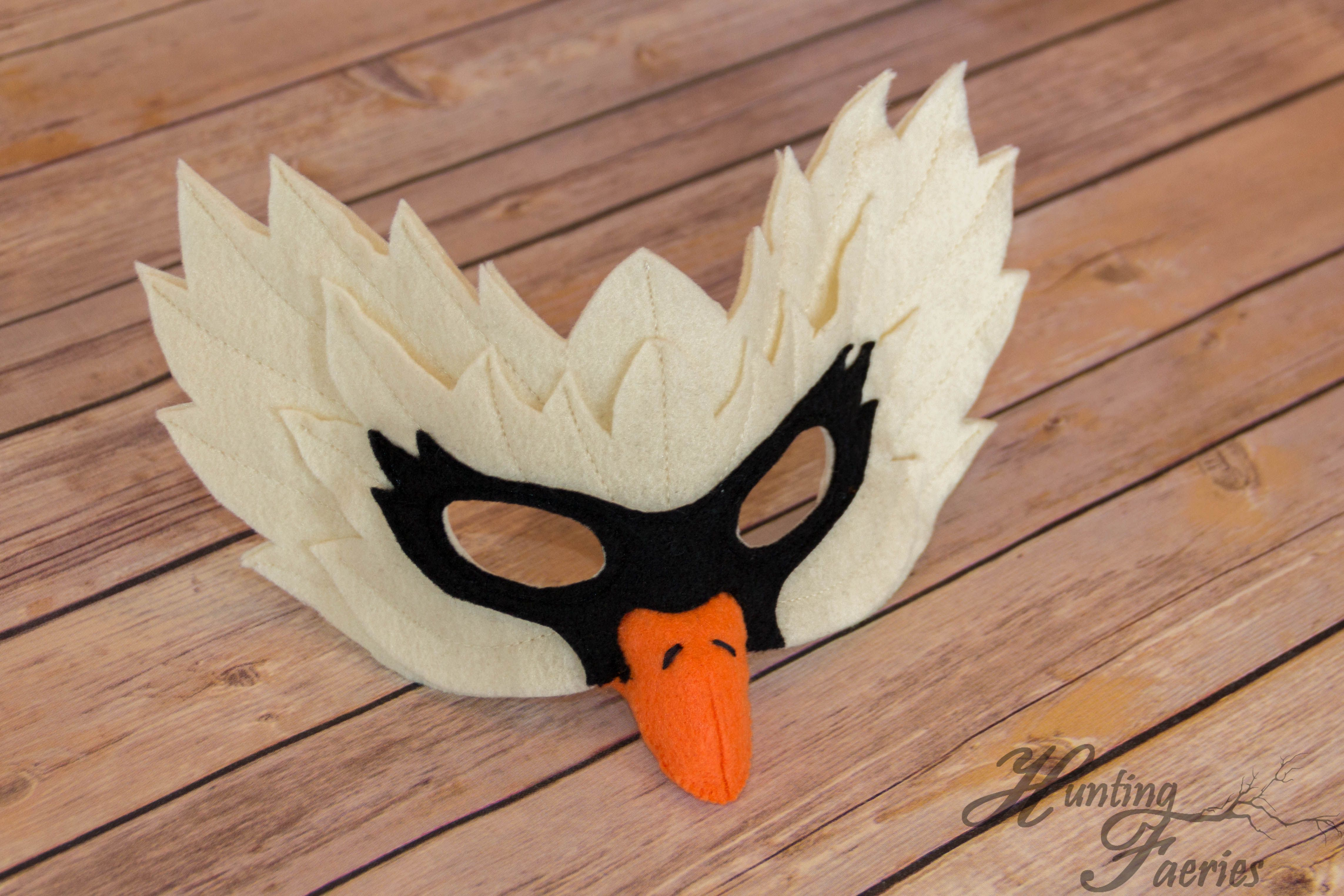 Swan Mask By Hunting Faeries On Etsy At Www Huntingfaeries Etsy