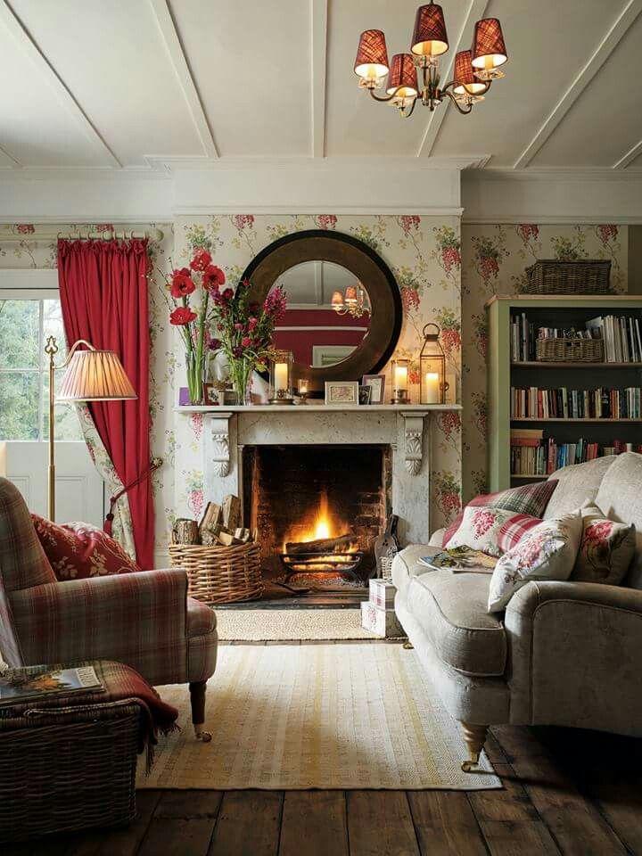 Gemutliches Wohnzimmer Country Living Room Design Cottage