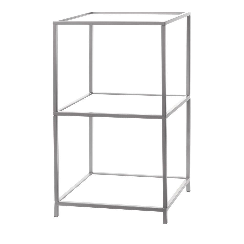 With A Foldable Frame And Acrylic Shelves This Countertop Shelf