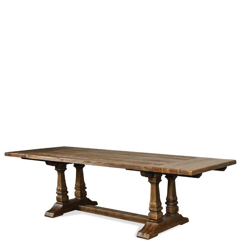 Gracie Oaks Keil Souleymane Breadboard Solid Wood Dining Table Reviews Wayfair Dining Table In Kitchen Solid Wood Dining Table Dining Table Solid wood trestle dining table