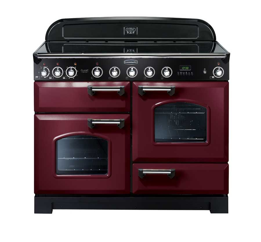 Rangemaster Classic Deluxe 110 Induction Range Cooker Cranberry Love This Stove Range Cooker Dual Fuel Range Cookers Induction Range Cooker