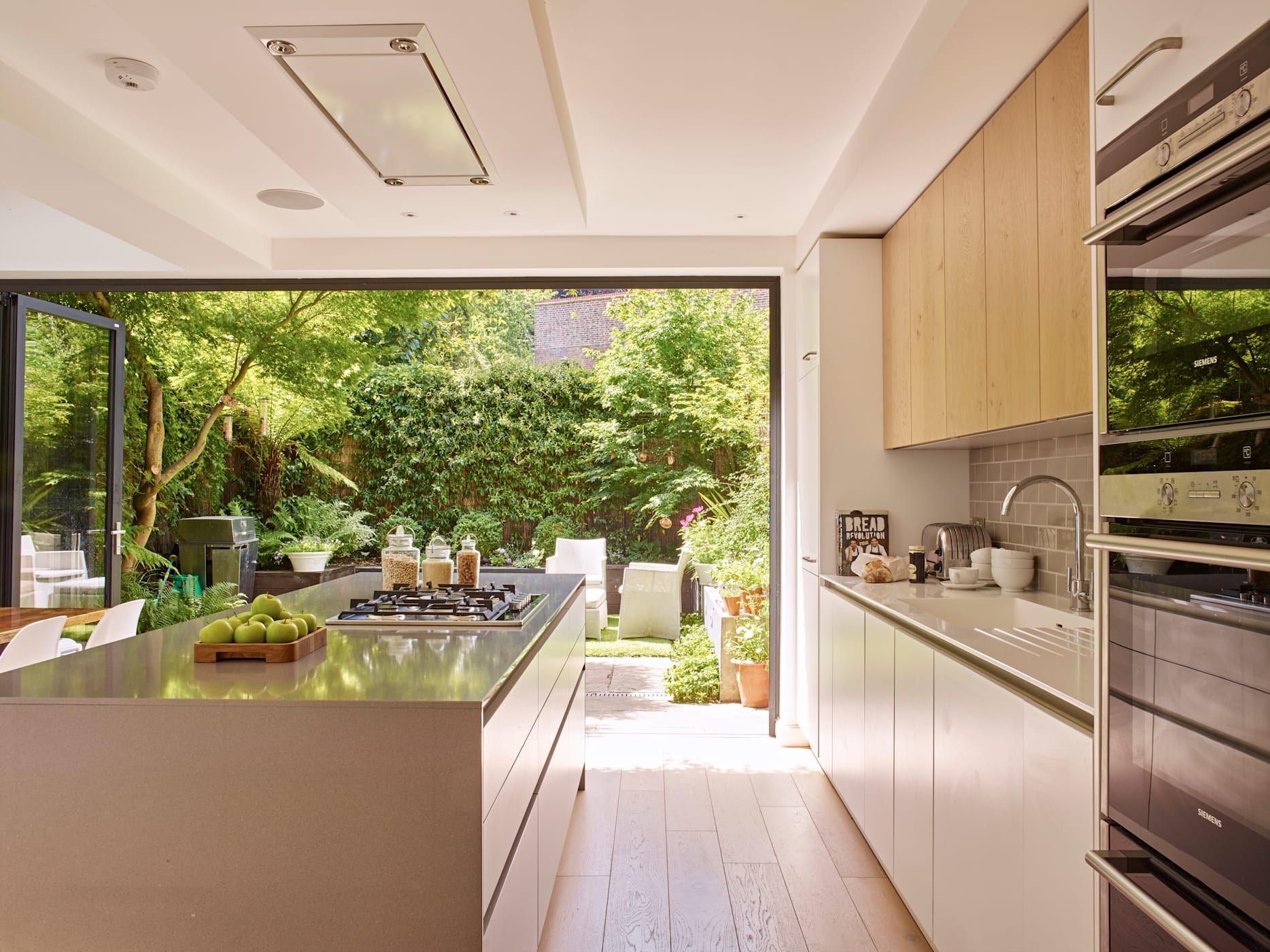garden view from kitchen door modern kitchen by holloways of ludlow bespoke kitchens cabinetry on kitchen garden id=53482