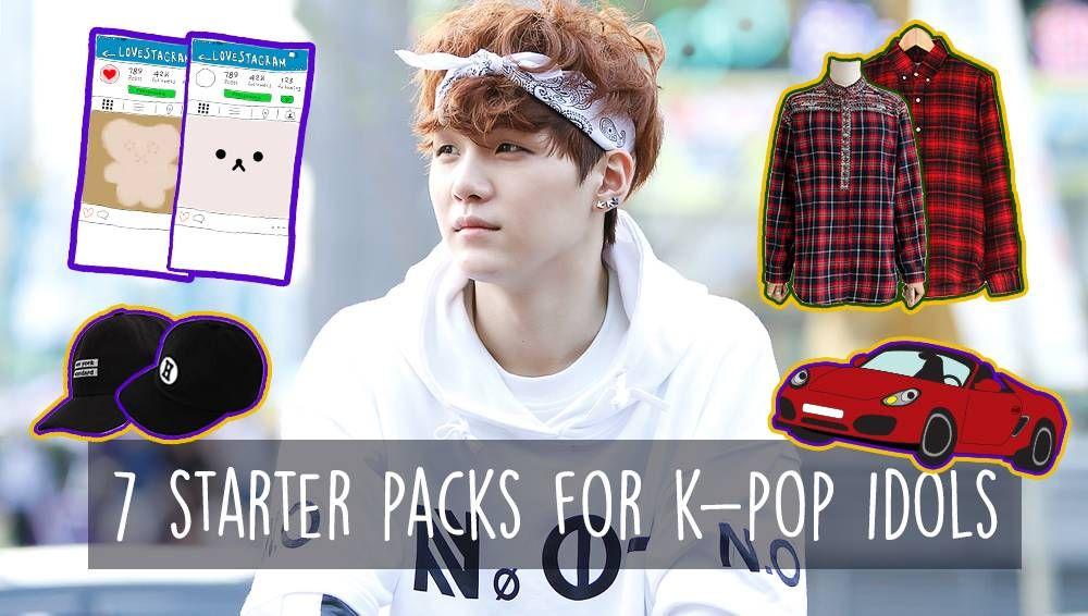 7 Starter Packs For K Pop Idols Kpop Idol Starter Pack Starter Packs Meme