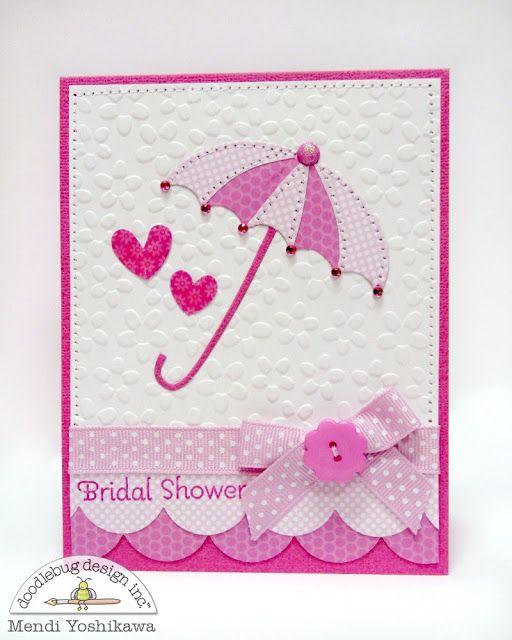 Bridal Shower #card by Mendi Yoshikawa for @doodlebug_inc and @Sizzix #papercrafts