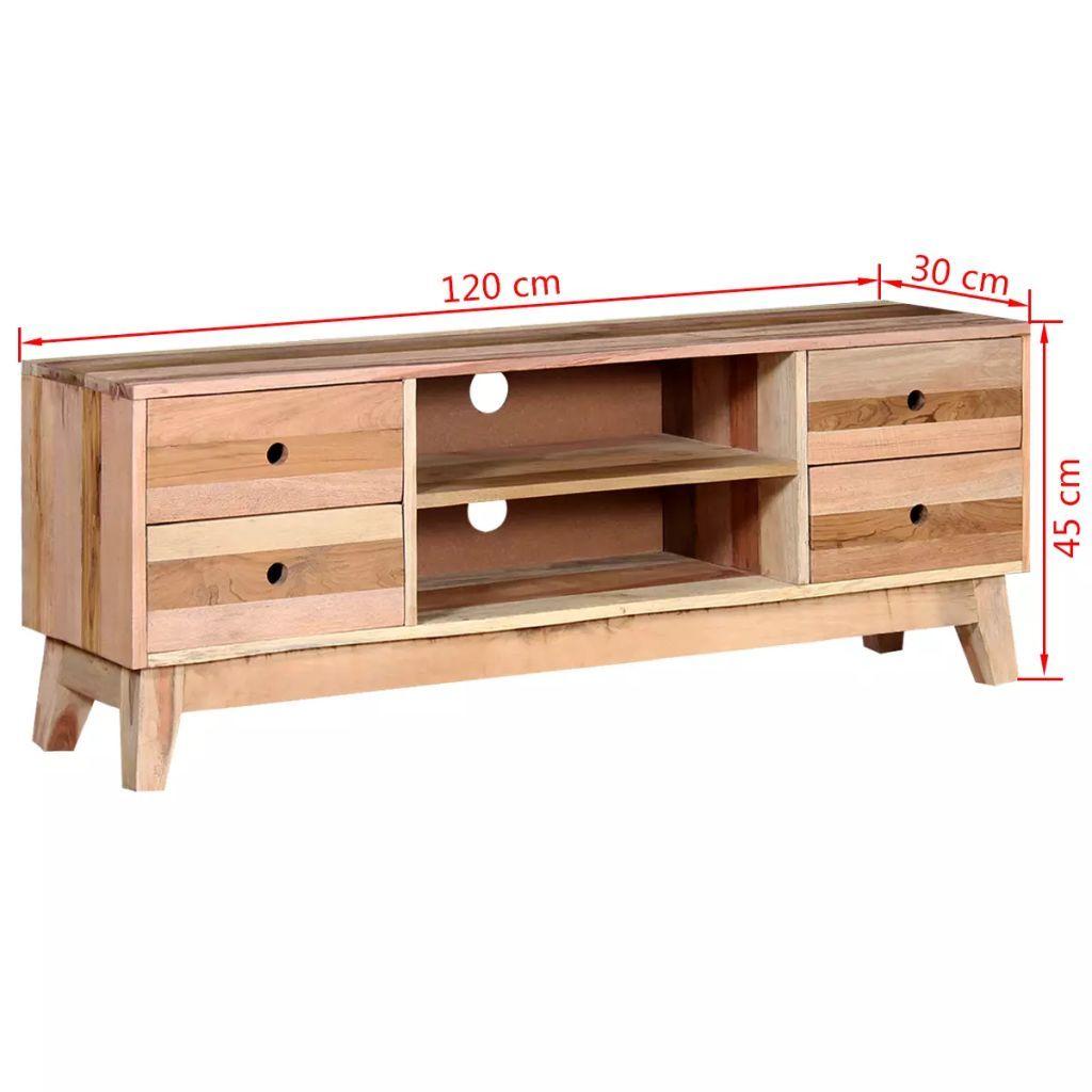 ZUN TV Cabinet Solid Reclaimed Wood 244235 Exclusive