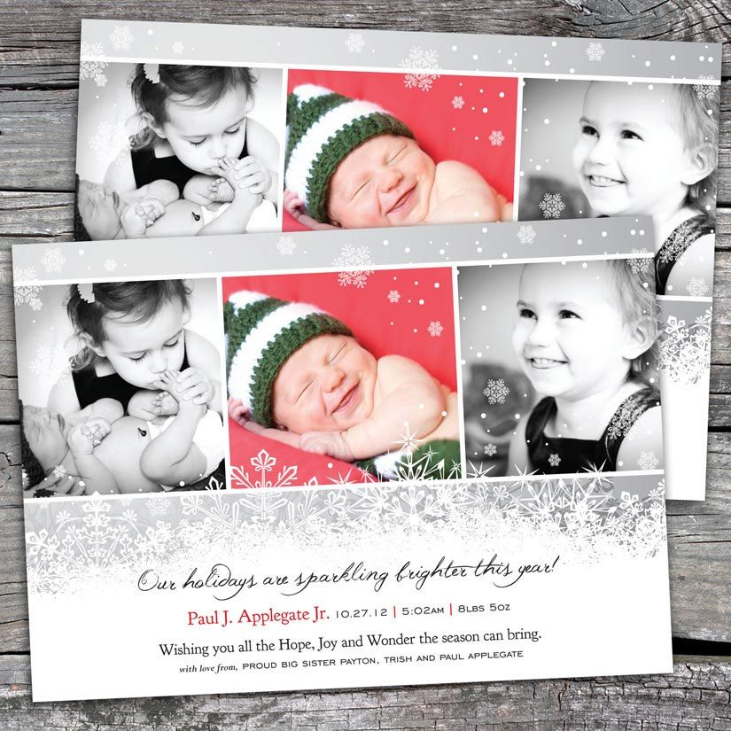 Holidays Sparkling Brighter - Photo Christmas / Holiday Birth ...