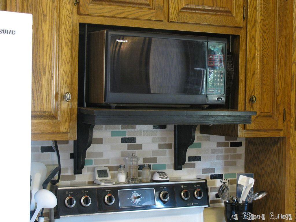 microwave shelf update microwave