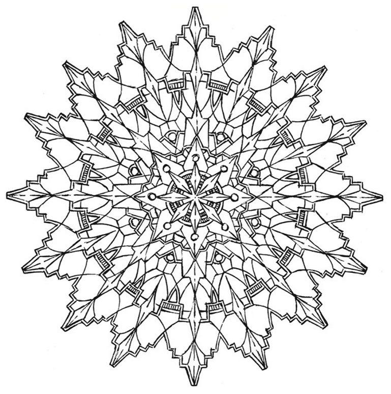 Mandala 578, Creative Haven Kaleidescope Designs Coloring