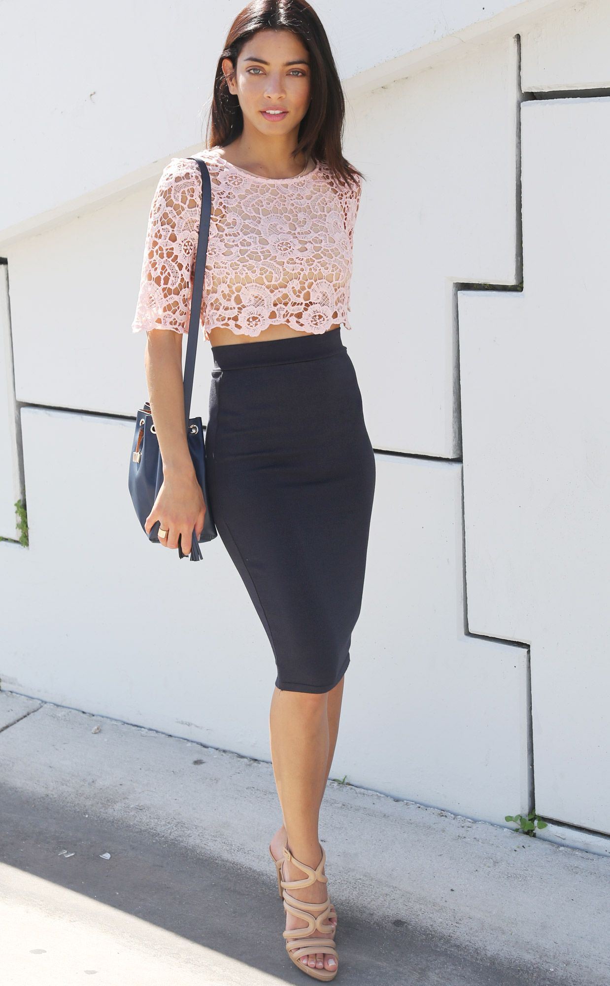 midi pencil skirt - Cerca con Google | Pencil Skirts, Pencil ...