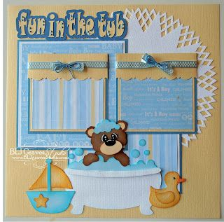 Fun In The Tub Scrapbook Page