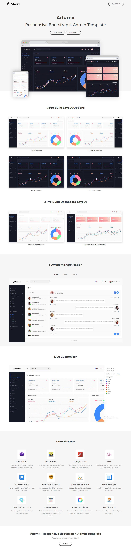 Adomx Bootstrap 4 Admin Template Templates, Web themes