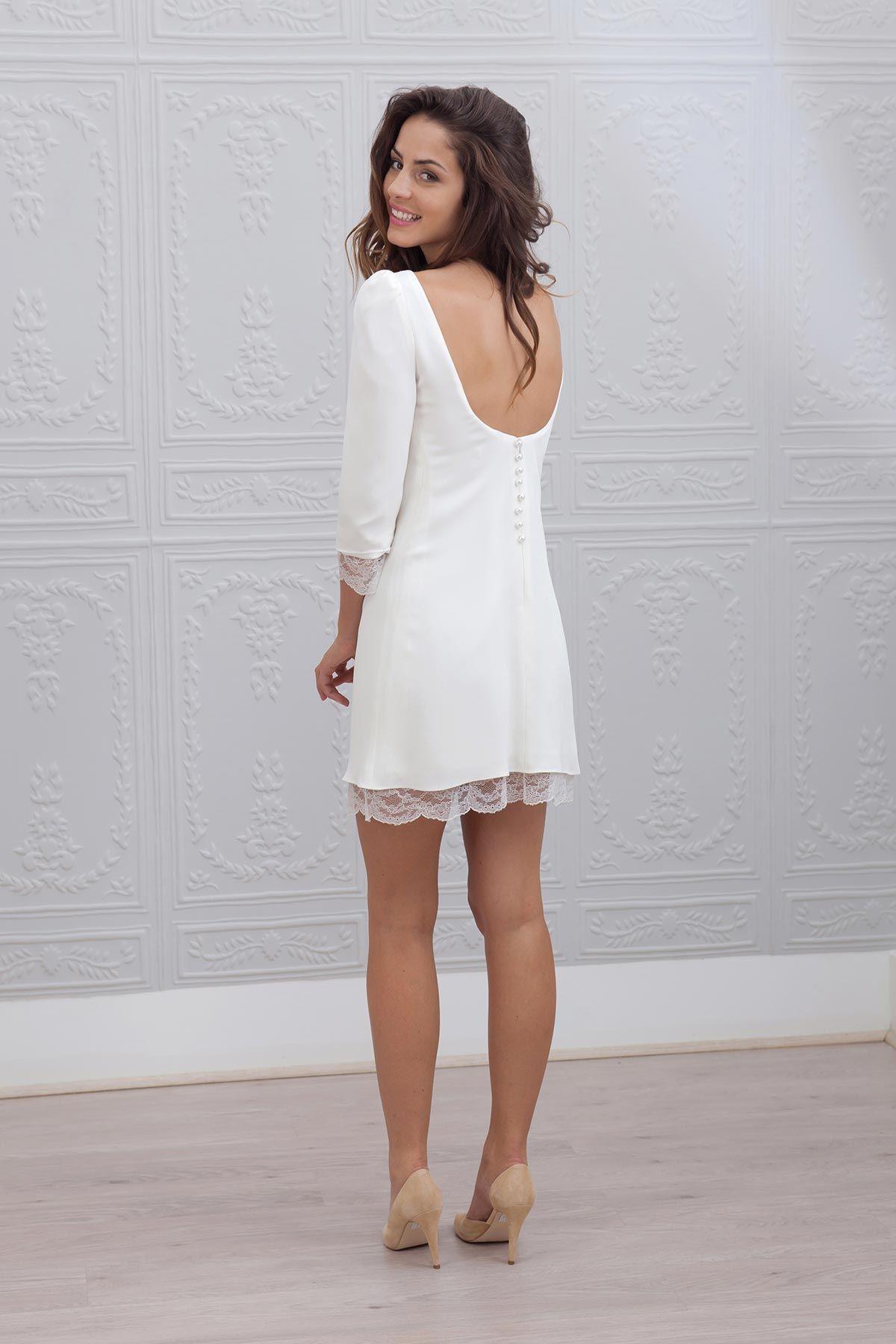 20 robes de mari e courtes de cr ateurs wedding robe. Black Bedroom Furniture Sets. Home Design Ideas