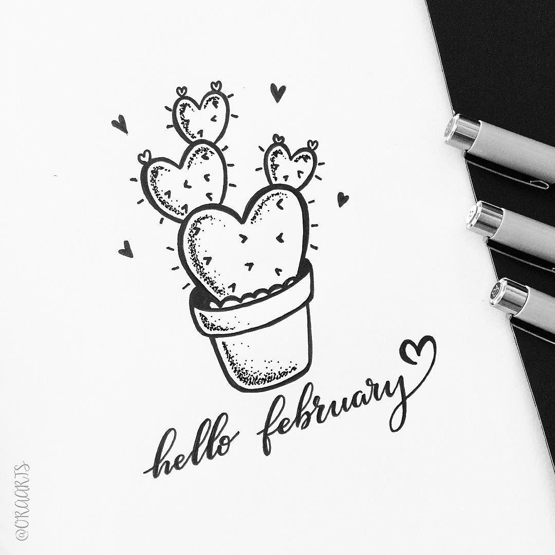 Hello February!   positive vibes   Bullet Journal, February