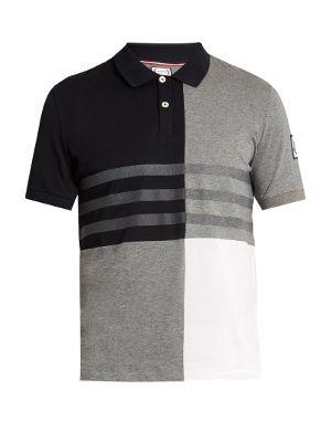 Contrast-panel cotton polo shirt | Moncler Gamme Bleu | MATCHESFASHION.COM