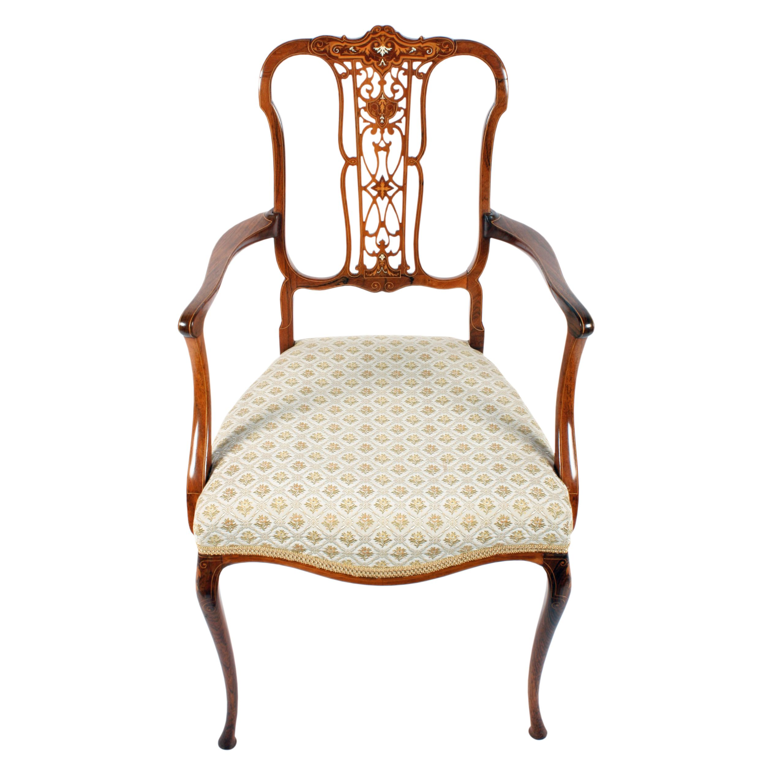 Victorian Rosewood Arm Chair Antique bedroom furniture