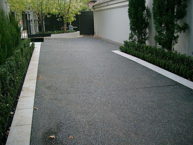 As Metal Slag Driveway : Decorative concrete driveway residential landscape