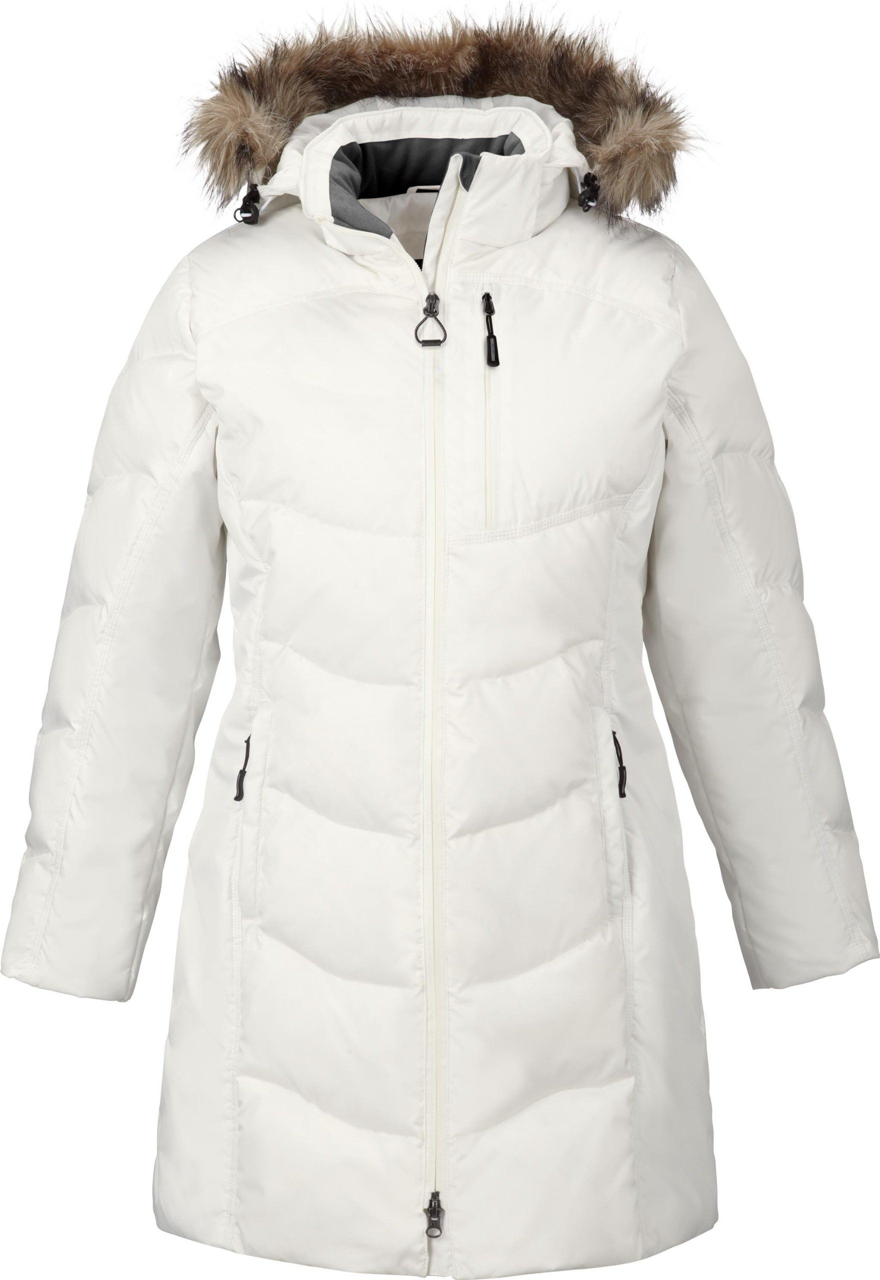 72aaaafb9 North End Womens Boreal Faux Fur Trim Extreme Weather Down Jacket ...