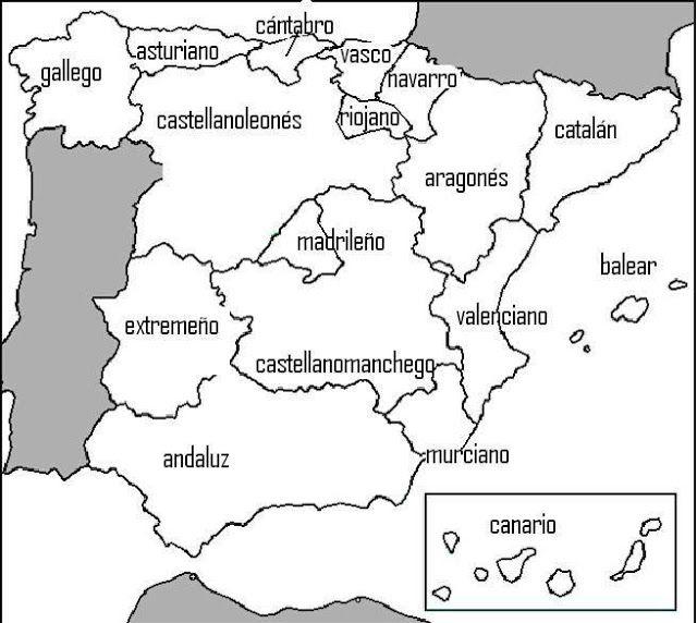 La Ventana De 4º Gentilicios De Comunidades Autónomas Y Provincias De España Gentilicios España Historia De España