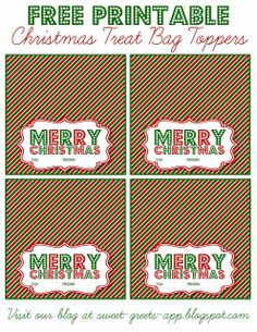 graphic relating to Christmas Bag Toppers Free Printable identify Free of charge Printable Xmas Address Bag Toppers Reward Programs