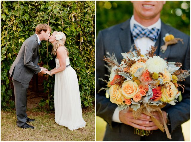 love the grooms's look and the colors of bouquet