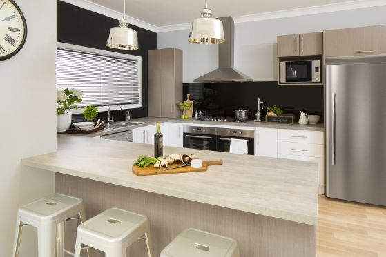flint stone benchtop kaboodle kitchens kitchen design kitchen renovation trends on kaboodle kitchen enoki id=20156