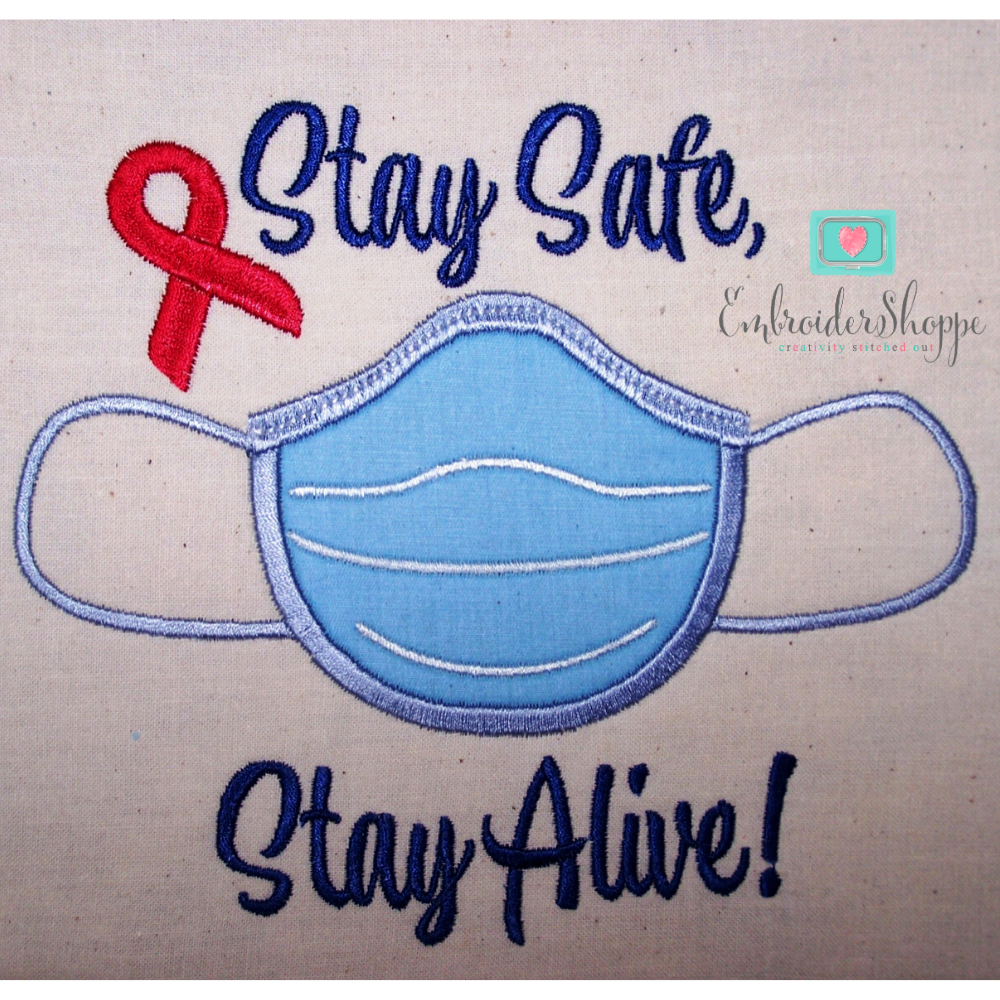 Free Stay Safe Stay Alive Applique 6x10 Products Swak Embroidery Embroidershoppe In 2020 Machine Embroidery Free Applique Patterns Embroidery Designs