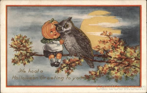 We Hoot A Halloween Greeting To You