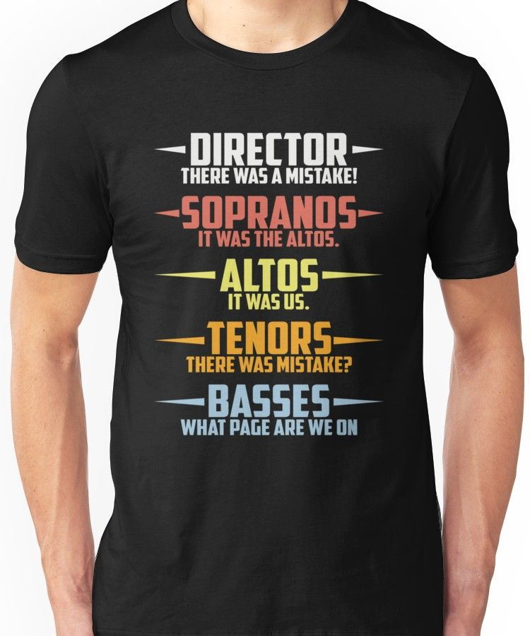 Funny Music Shirt Director There was A Mistake T-Shirt