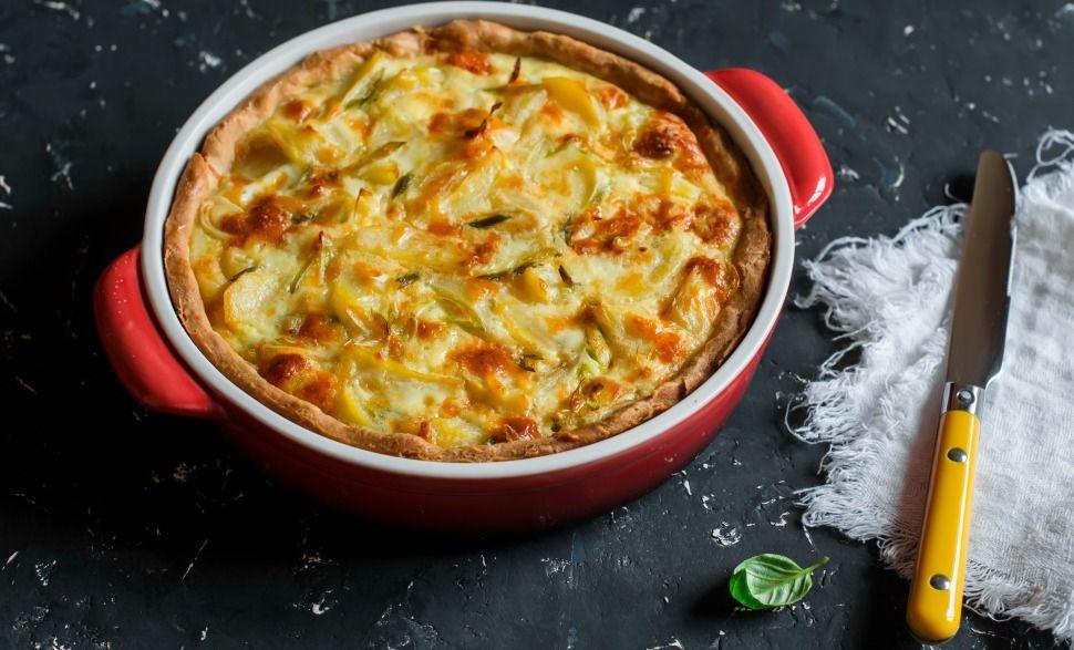 Diete Veloci E Facili : Il tortino di porri e patate è facile e veloce ricca e nutriente