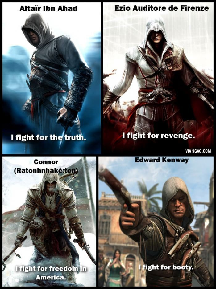 The Motivation For Assassin Creed Characters Assassins Creed