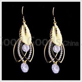 Zircon Earring Hook For Clubwear