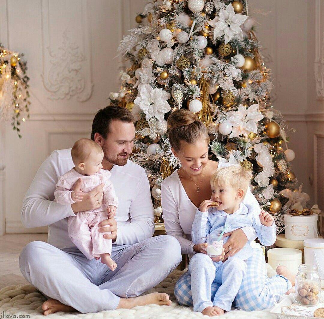 Идеи в одежде для фотосессии новогодней семьей