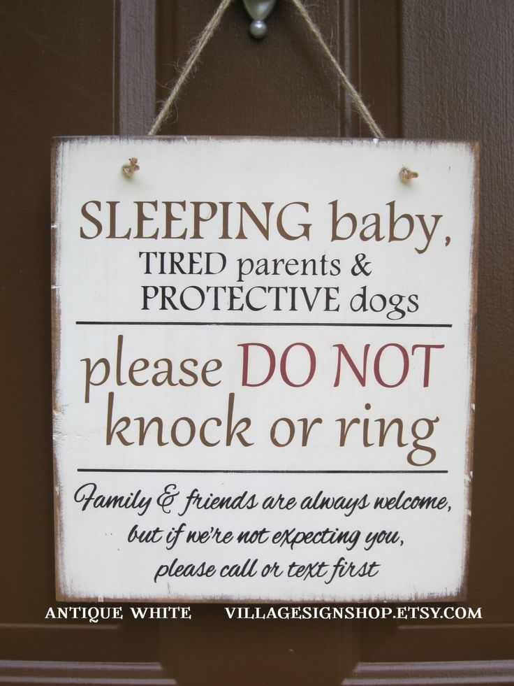 Sleeping Baby Do Not Knock Or Ring Distressed By Villagesignshop