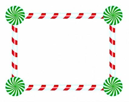 Candy Cane And Peppermint Frame Free Christmas Printables Free Christmas Borders Christmas Place Cards