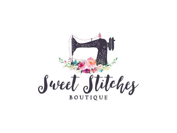 sewing logo premade floral sewing machine logo design 229 machine logo logo design. Black Bedroom Furniture Sets. Home Design Ideas