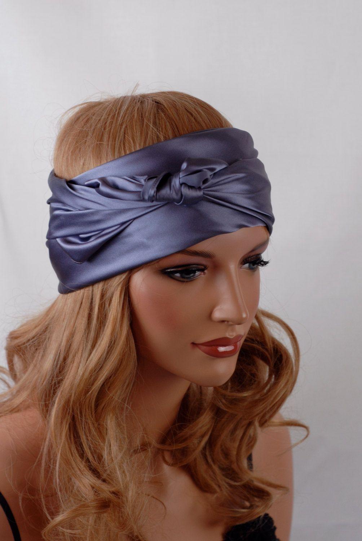 Silk Charmeuse Scarf, Hyacinth Colored Sleep or Bandana