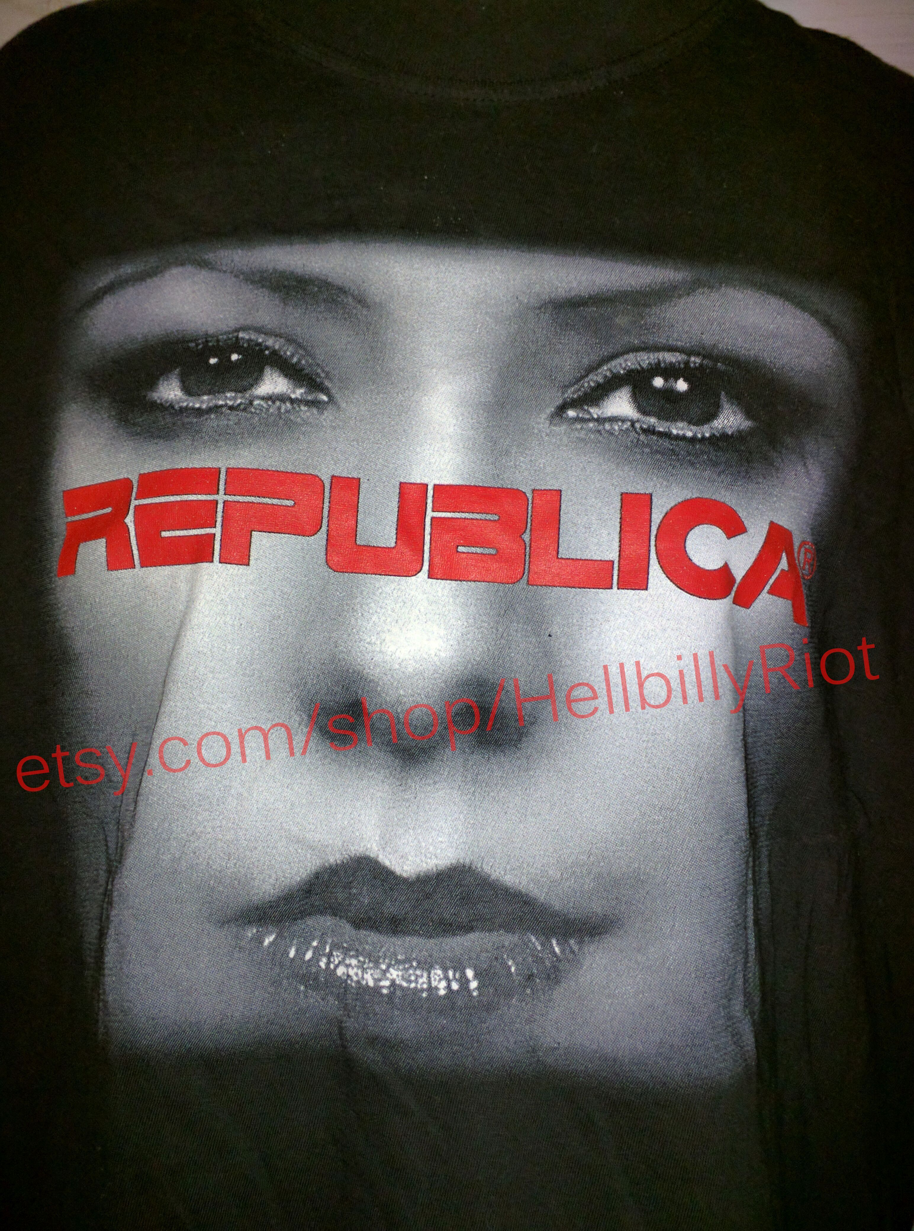 Republica British Europop 90s Concert Vintage T Shirt Britpop Rare Hardcore Hxc New York Music Punk Straight Edge Xxx Straightedge