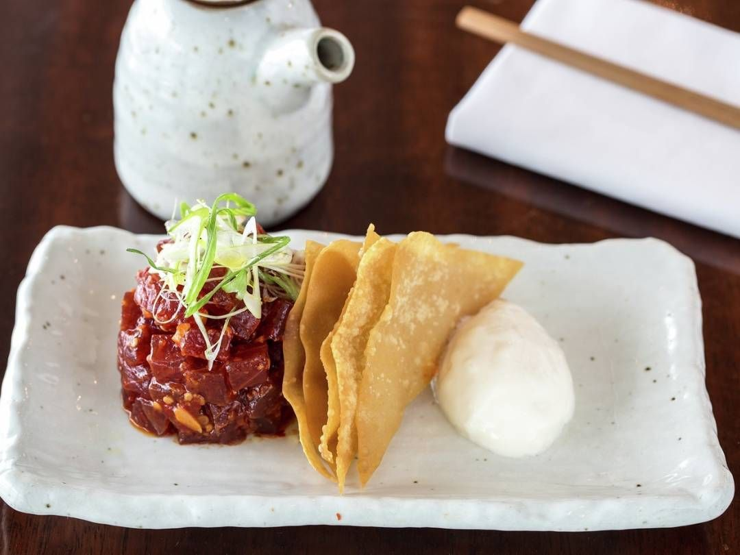 Spicy tuna tartare with won ton crisps recipe gordon ramsay spicy tuna tartare with won ton crisps recipe gordon ramsay recipes ccuart Gallery
