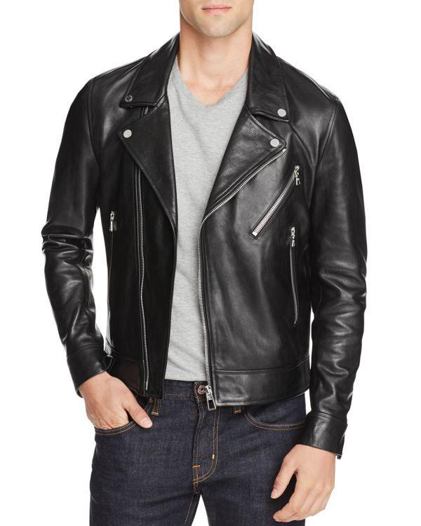672f9b060869c Ps Paul Smith Leather Biker Jacket
