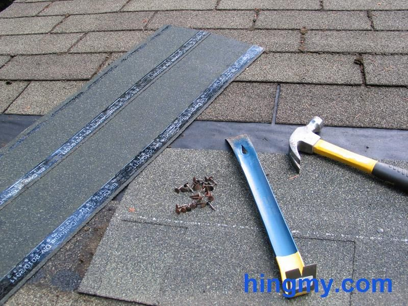 Replacing Shingles on a Composite Roof Shingling, Roof
