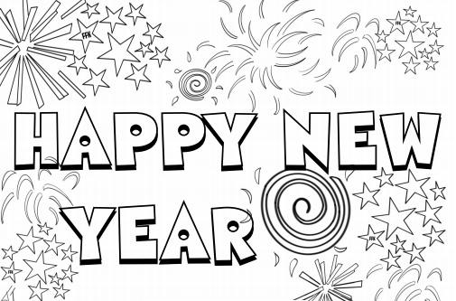 Happy New Year Coloring Pages Pdf Rhpinterest: Coloring Pages For Happy New Year At Baymontmadison.com