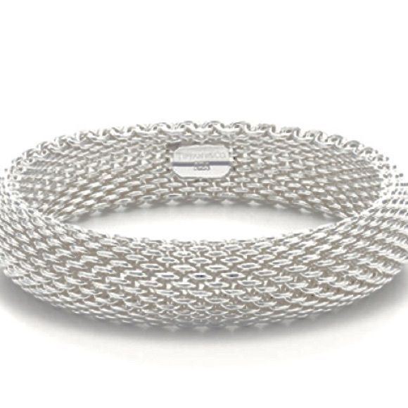 8cf292f1f457d Tiffany Somerset Mesh Bracelet 100% authentic Sterling Silver ...