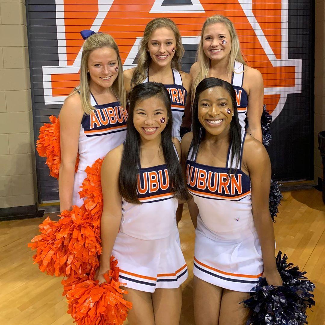 Wareagle From Auburn Arena Let S Go Auburn Volleyball Auburn University Cheerleading Auburn