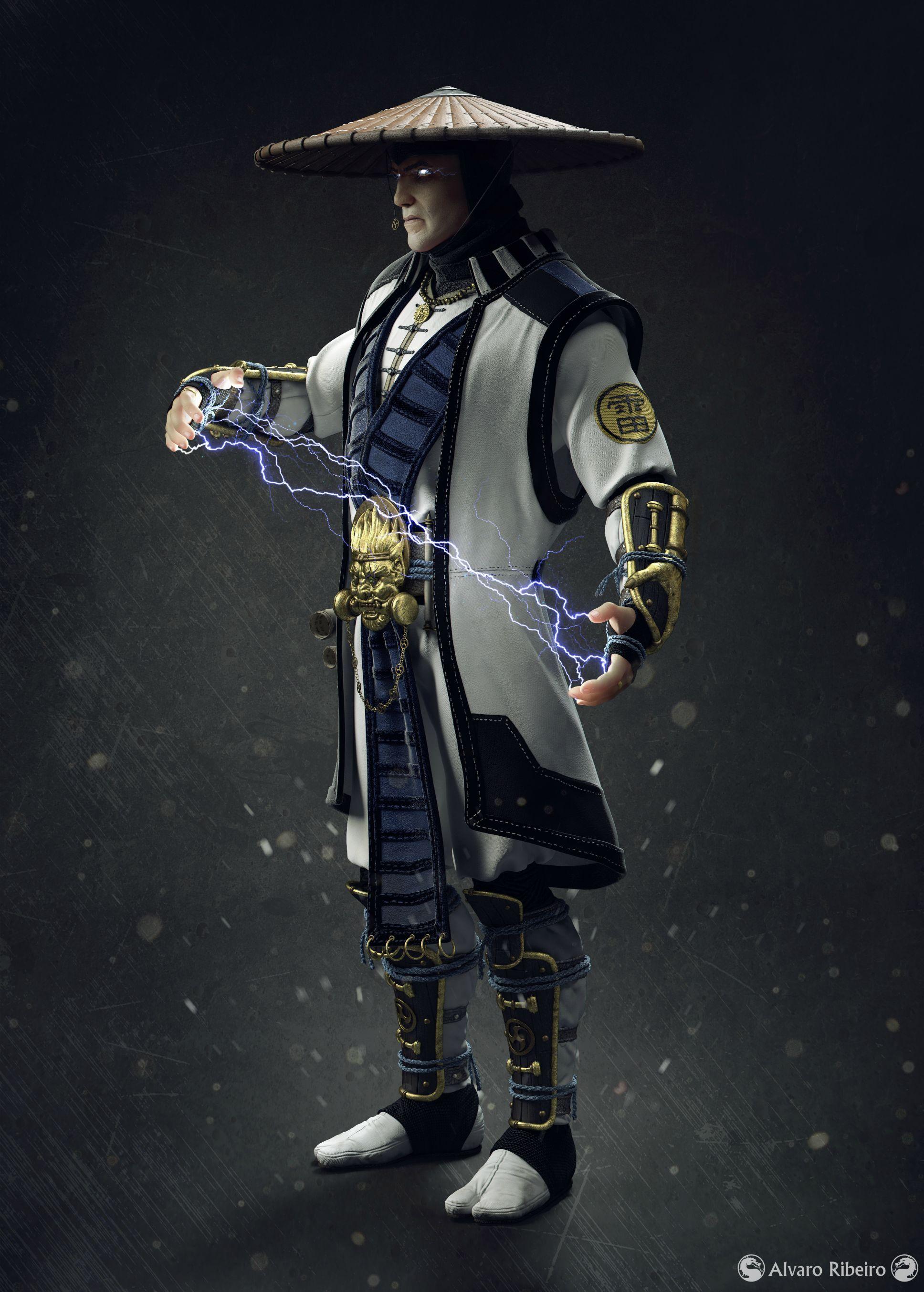 Alvaro Bernardes Cota Ribeiro Highres 3d Fan Art Challenge Raiden Mortal Kombat Mortal Kombat Characters Mortal Kombat Costumes