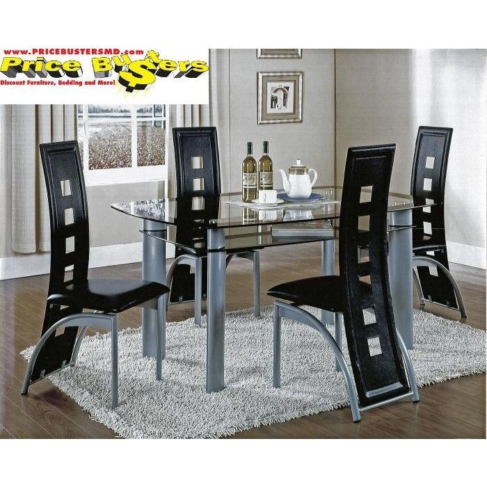 Metro Black Table And 4 Chairs Black Table Table Furniture