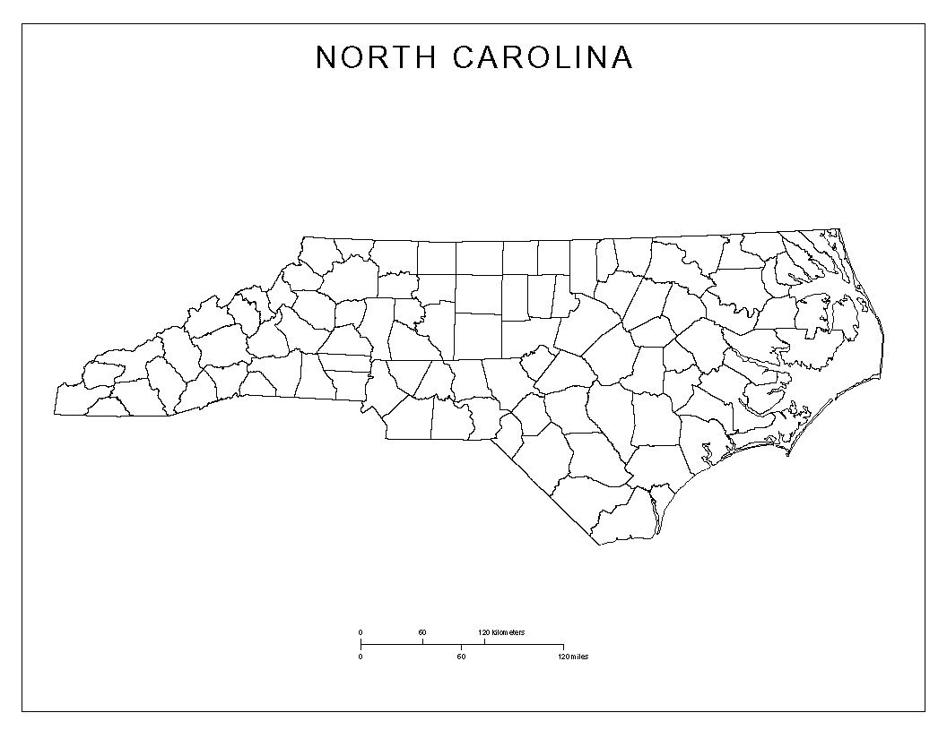 free north carolina map | North Carolina Blank Map | North