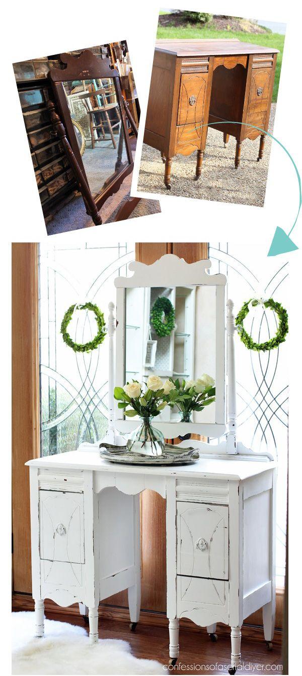 Restauration Meuble De Cuisine 25+ thrifty furniture makeovers   mobilier de salon