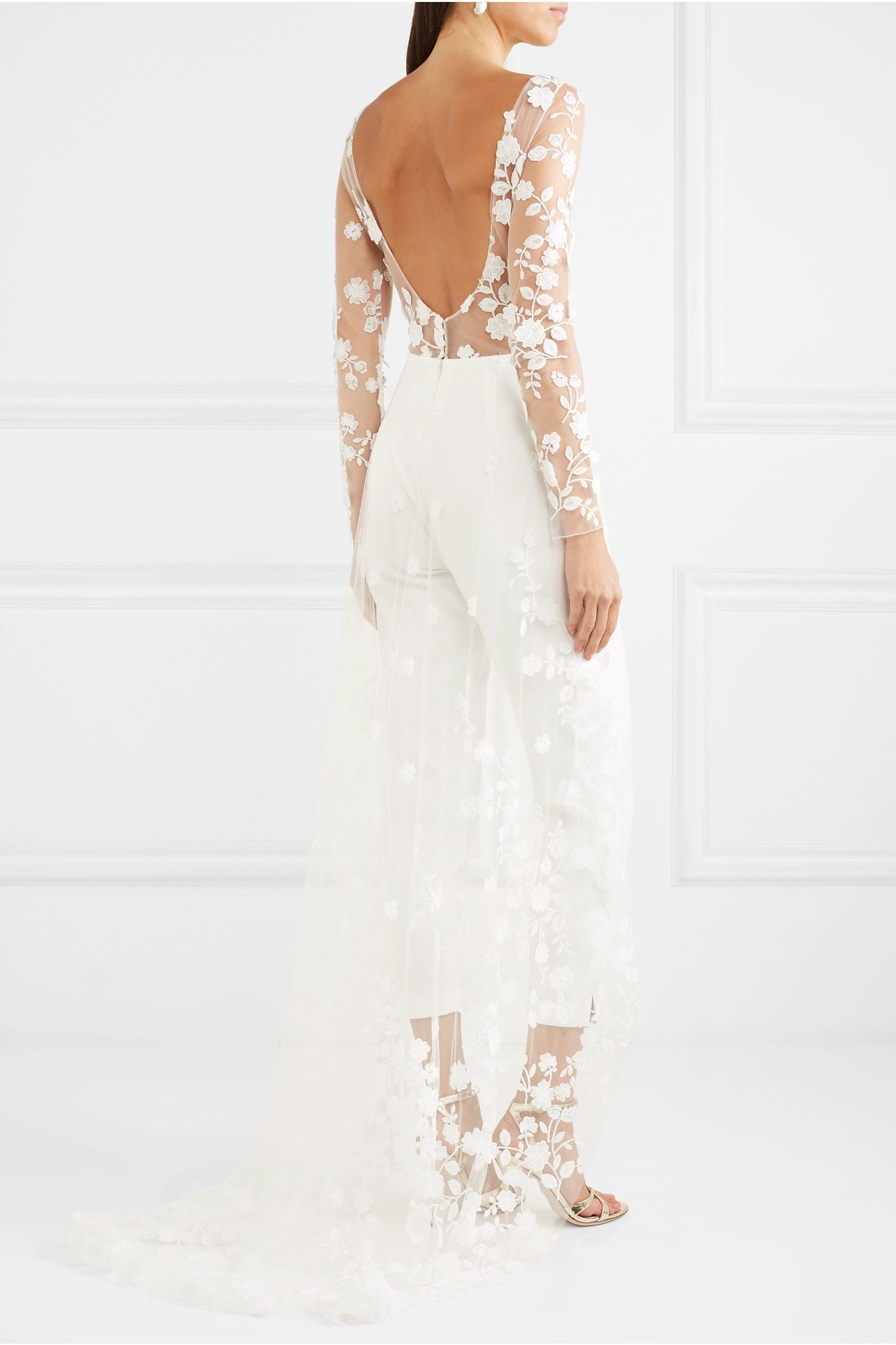 41+ Wedding jumpsuit with tulle train ideas in 2021
